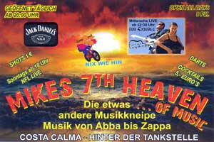 Nightlife Costa Calma: Rock & Blues - Mike's 7th Heaven - Fuerteventura.