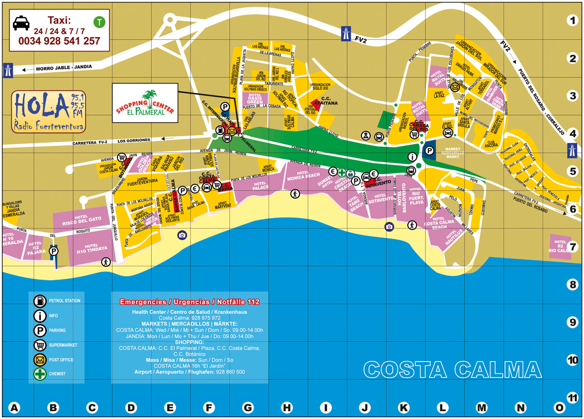 COSTA CALMA MAP web